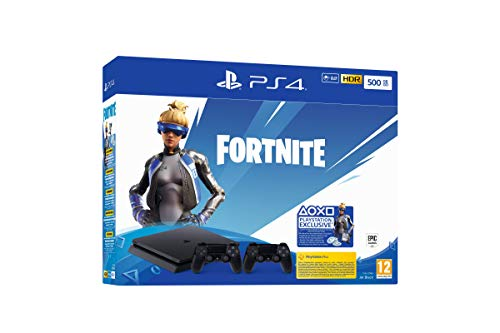 PlayStation 4 Slim - Konsole (500GB, Jet Black) + 2 Controller: Fortnite Neo Versa Bundle
