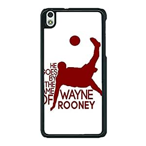 Jugaaduu Manchester United Rooney Back Cover Case For HTC Desire 816