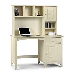 White Home Office Computer Desk With Drawers Shelves A Workstation With Hutch Providing Lots