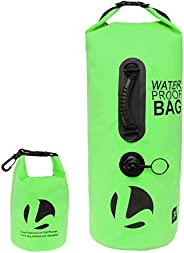 LISH 30L Floating Waterproof Dry Bag - Roll Top Backpack Sack with Bonus 1.5L Pouch, for Camping, Kayaking, Sw