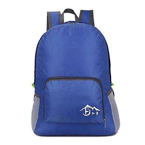 SZH&BEIB Faltbare Rucksack Wasserdichte Nylon Ultra Light für Outdoor Reit Tasche Wasser-Tasche E