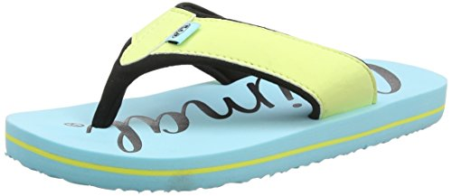 Animal Girls' Swish Logo Flip Flops, Blue (Poolside Blue), 1 UK 33 EU