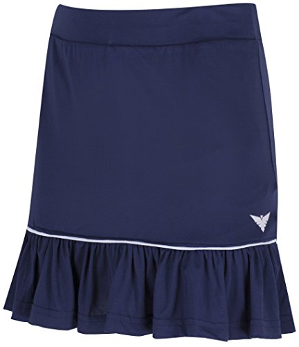 Bace Tennisrock für Mädchen, Marineblau/Weiß, mit Unterhose, Tennisrock für Kinder, Tennisrock, Golfrock, Sportbekleidung, Junior-Skort, Netballrock, Hockey-Rock, Mädchensportbekleidung, 6-7 Year Old