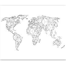 Carte Du Monde Origami.Amazon Fr Papier Peint Intisse Carte Du Monde