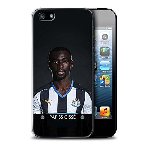 Officiel Newcastle United FC Coque / Etui pour Apple iPhone 5/5S / Pack 25pcs Design / NUFC Joueur Football 15/16 Collection Cissé