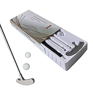 cuffslee Klassisch Golfschläger Set,Aluminium Golf Rod Mit Premium Grip Zwei-Wege-Kopf Atmungsaktiv Für Rechts- Oder…