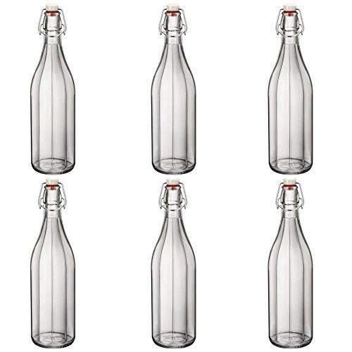 Bormioli Rocco Oxford löschen Weinwasser Tabelle Serving Bügelflasche - 1000ml - Packung mit 6