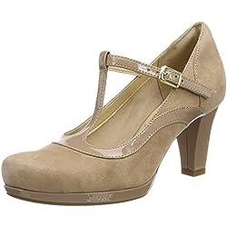 Clarks Chorus Pitch, Zapatos de Tacón para Mujer, Beige (Beige Combi), 38 EU