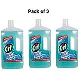 Cif Nettoyant pour plancher océan 3-147672 1 Litre-Lot de 3-emballage peuvent varier