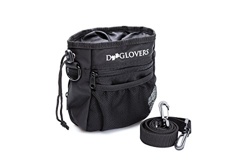 DOOGLOVERS - Premium Futterbeutel inklusive Ratgeber zur Hundeerziehung – hochwertiger Leckerlibeutel aus wasserabweisendem Nylon