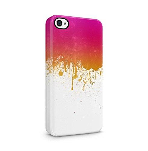 Color Splash Splatter Apple iPhone 5 , iPhone 5S , iPhone SE Snap-On Hard Plastic Protective Shell Case Cover Custodia Crimson Pink Ink