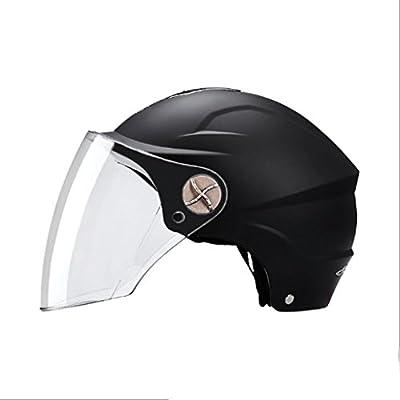 JG GJ Helmet - Motorcycle Men And Women Electric Car Universal Summer Half-covered Lightweight Half Helmet Four Seasons Sunscreen Helmet by GJ