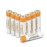 Wiederaufladbare Batterien, TYBATT NiMH Akku AAA Mignon 1100mAh hochkapazitiv Hohe Kapazität ohne Memory-Effekt Profi Digital Kamera-Akkubatterie 8er Pack
