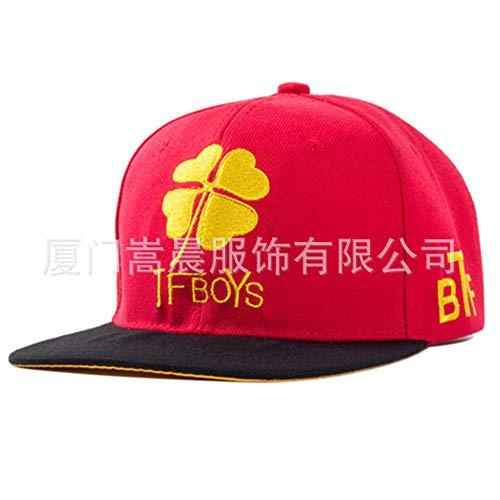zhuzhuwen Flache Hüte für Herren und Damen Hip-Hop-Hüte Street Flat Skateboard Caps Europäische und amerikanische Buchstaben Baseball Caps 2 56-62cm