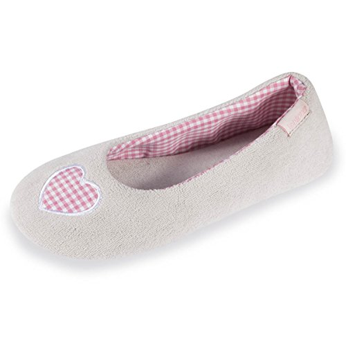 chaussons-ballerines-femme-vichy-isotoner-37-38
