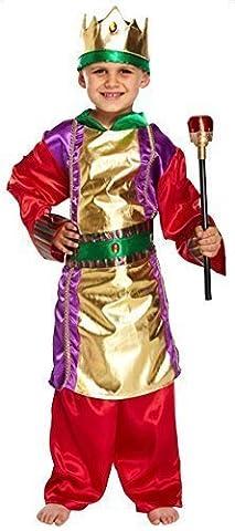 Jungen Mädchen Weihnachten Krippenspiel Königlich König Kostüm Kleid Outfit 7-8-9 jahre (Krippenspiel König Kostüm)