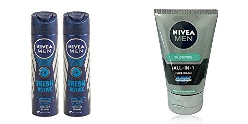 Nivea Men Fresh Active Original Deodorant - 150 ml (Free Nivea Men...