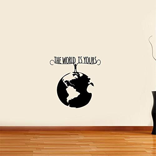 wandaufkleber 3d Wandtattoo Wohnzimmer Man Planet Earth Die Welt ist dein Umweltschutz