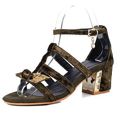 Sandales femmes Printemps Été robe simili cuir Confort Talon occasionnels Balades Boucle Green