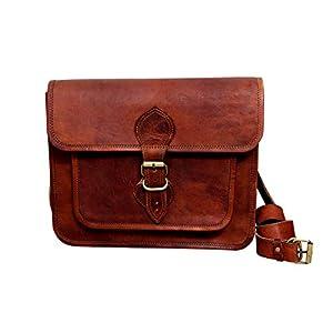 Handgemachte braune Lederhandtasche im Vintage-Stil aus echtem braunem Lederhandtasche