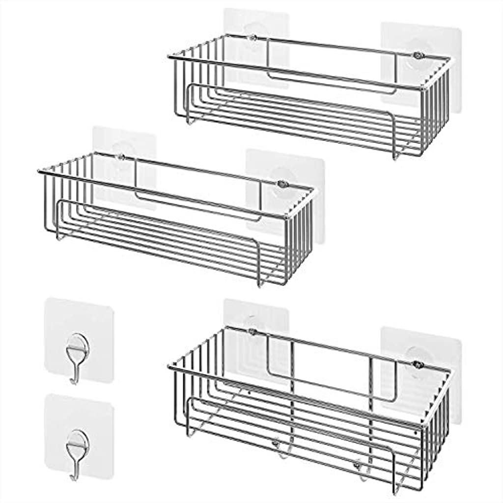 Lifewit Estanteria Ducha Adhesivos Organizador Estantes Cesta para Ducha  Baño Acero Inoxidable -Sin Taladro 2dfc7791572c