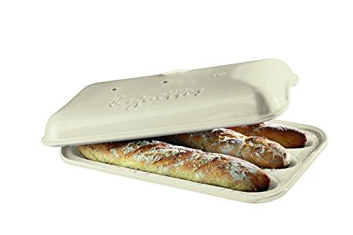 """Emile Henry Baguette-Bäcker, hergestellt in Frankreich 15.4"""" x 9.4"""" x 4"""" leinen"""
