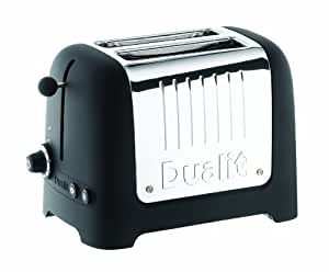 Dualit 26005 2 Slice Soft Touch Lite Pop Up and See Toaster, Black