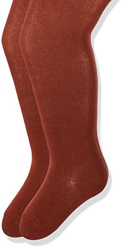 Melton Mädchen Strumpfhose 600068, 2er Pack, Orange (Marsala 650), 140 (Herstellergröße: 9-10Y)