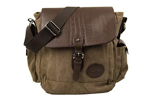 Airel Messenger Bag | Satchel Bag | Umhängetasche | Businesstasche | Schultertasche Stoff | Klein Schultertasche Massnahmen: 28x25x14 cm (Nike Messenger Bag Für Männer)