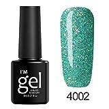 Evokems 8mL 19Colors langlebige Glitter Gel Nagellack Beauty Art Tools Salon Nagelkleber