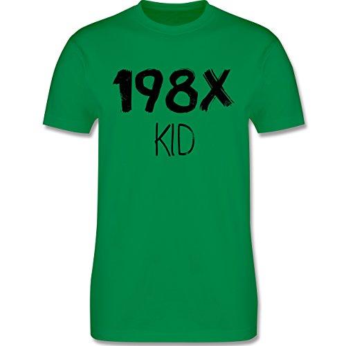 Shirtracer Geburtstag - 198X Kid Vintage - Herren T-Shirt Rundhals Grün