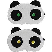Tootpado Plush Panda Bear Sleep Eye Mask with Elastic (White)- Pack of 2 (LNTg0154)