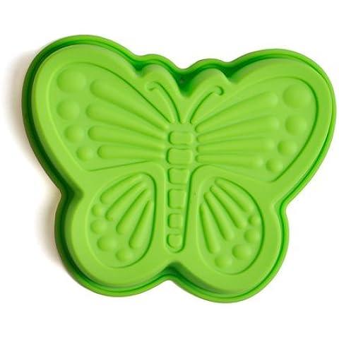 Dansuet Non-Stick farfalla del gel del silicone della muffa della torta di cioccolato del mestiere Candy sapone cottura Bakeware fai da te Mold, Verde, Farfalla del gel del silicone della muffa della torta per le donne