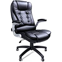 Songmics schwarz Bürostuhl Chefsessel Bürodrehstuhl hoher sitzkomfort OBG51B