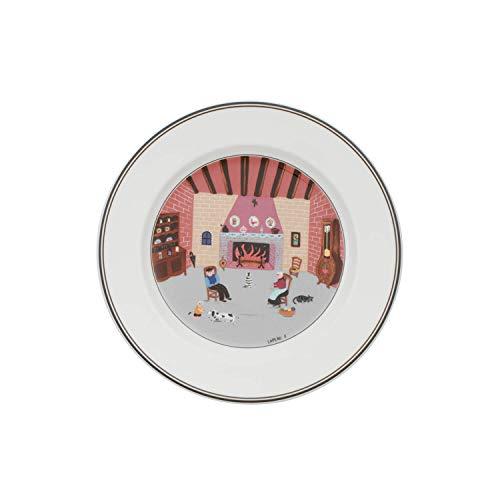 Villeroy & Boch Design Naif Frühstücksteller Kamin, Premium Porzellan (Stapelbar Dessertteller)