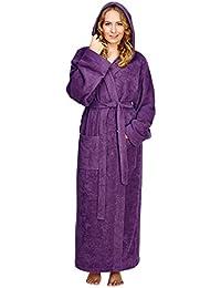 Arus - Albornoz con capucha Pacific para hombre y mujer, 100% algodón, peso ligero, extra largo