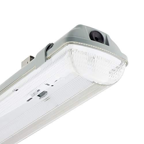 Pantalla Estanca para dos Tubos de LED 1200mm PC/PC Conexión un Lateral efectoLED