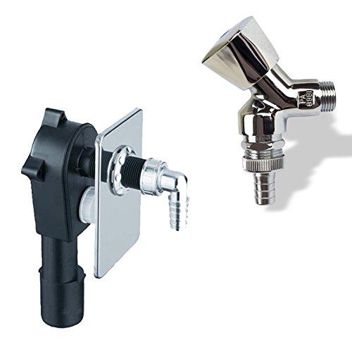 Stabilo-Sanitaer Anschluss-Set Unterputz-Siphon Sifon DN50 DN40 Abfluß Geräteventil 1/2 Zoll Wasserhahn Waschmaschine