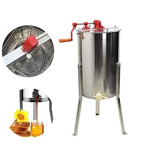 Honig-Extraktor, 4 Rahmen-Handbuch 201 Edelstahl-Honig-Bienen-Öl-Auszieher-Imkerei-Ausrüstung Für Bienen-Hüter