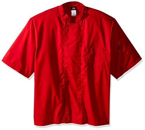 Double Breasted Drop (Unisex Short Sleeve Chef Coat RED 2XL)