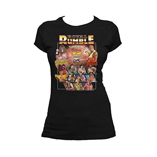 WWE Royal Rumble Character Select Official Women's T-Shirt (Black) (Medium)