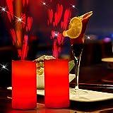 YXXHM- Telecomando Alimentato a Batteria LED Natale Rotante Creativo Candela paraffina proiezione Lampada luci Decorative Lanterna