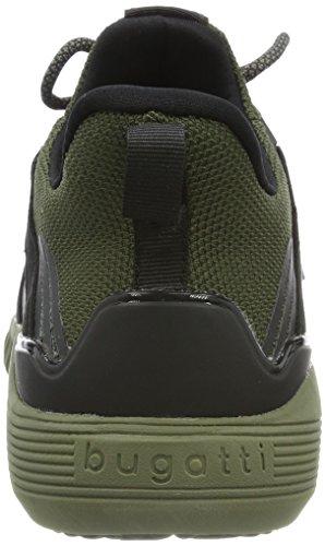 Bugatti 342394616959, Sneaker Uomo Verde (Green/ Black)