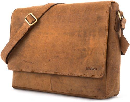 a vintage tracolla bufalo vera Marrone in Oxford Nero di pelle LEABAGS borsa zHEYI
