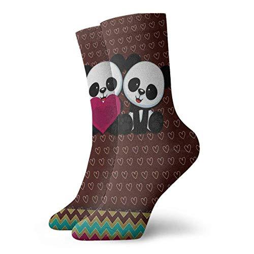 Kotdeqay Panda Bear Wallpaper Mannschaftssocken Funny Novelty Thin Casual Sport Comfort Work 11.8