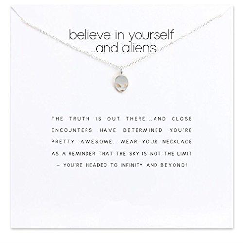 Yinew Silber Ausländer mit Weiße Karte Legierung Schlüsselbein Kurze Halskette
