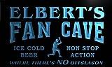 tc450-b Elbert's Baseball Fan Cave Man Room Bar Beer Neon Light Sign