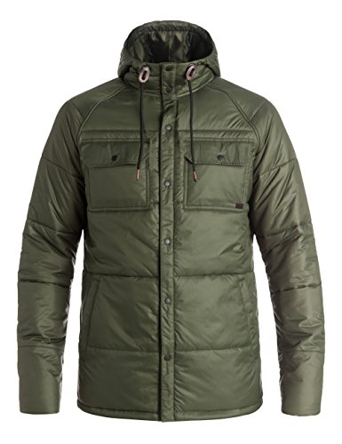 Quiksilver Herren Mileage Winter Jacket, Forest Night, XL (Insulator Männer Jacke)