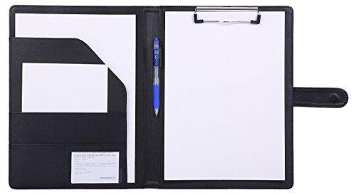 Porte Documents Porte Bloc A4 , Bloc Note a4 Range Documents Porte-bloc, a4 Organiseur Trieur Portfolio ( noir )