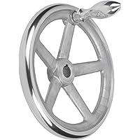 Kipp mano Rueda con Nut aluminio, productos: aluminio, D2= 16, D1= 180, 1pieza, k0160.5180X 16